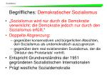 begriffliches demokratischer sozialismus