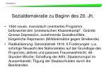 sozialdemokratie zu beginn des 20 jh