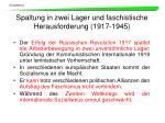 spaltung in zwei lager und faschistische herausforderung 1917 1945