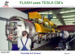 flash uses tesla cm s