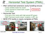 horizontal test system fnal