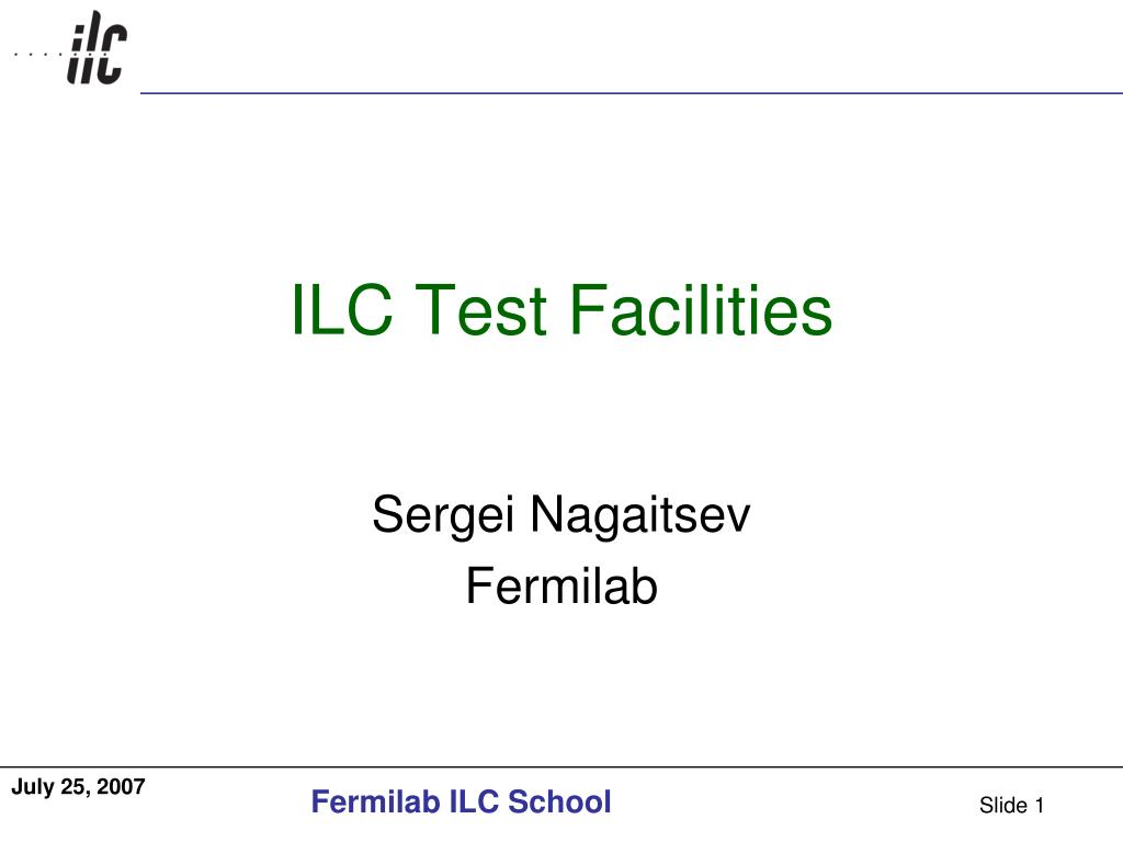 ilc test facilities l.