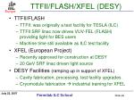 ttfii flash xfel desy