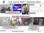 u s cavity r d national effort