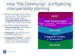 how the community is influencing interoperability planning