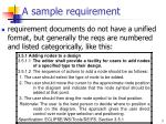a sample requirement