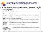 example functional decomp
