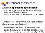 operational specification