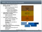 mdd model driven development