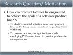 research question motivation