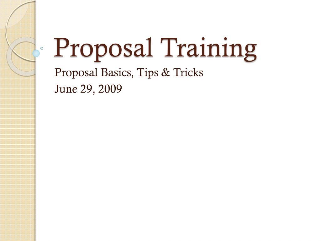 proposal training l.