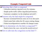 example congested link
