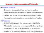internet interconnection of networks