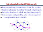 intradomain routing within an as