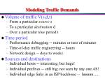 modeling traffic demands