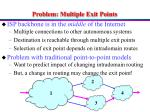 problem multiple exit points