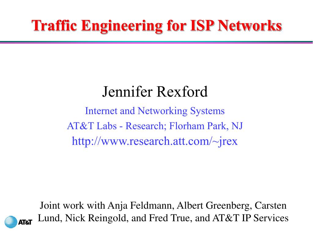 traffic engineering for isp networks l.