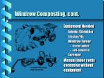 windrow composting cont