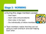 stage 3 norming