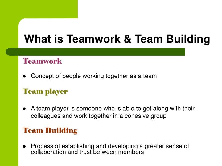 what is teamwork