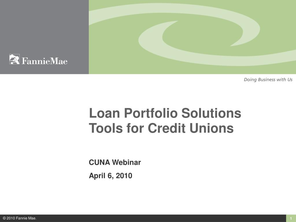 loan portfolio solutions tools for credit unions l.