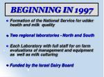beginning in 1997