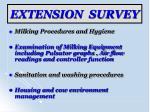 extension survey