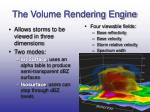 the volume rendering engine
