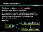directed transitions