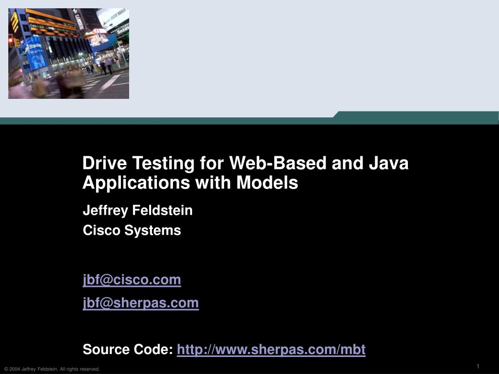 drive testing for web based and java applications with models l.