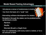 model based testing advantages