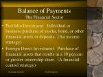 balance of payments the financial sector18