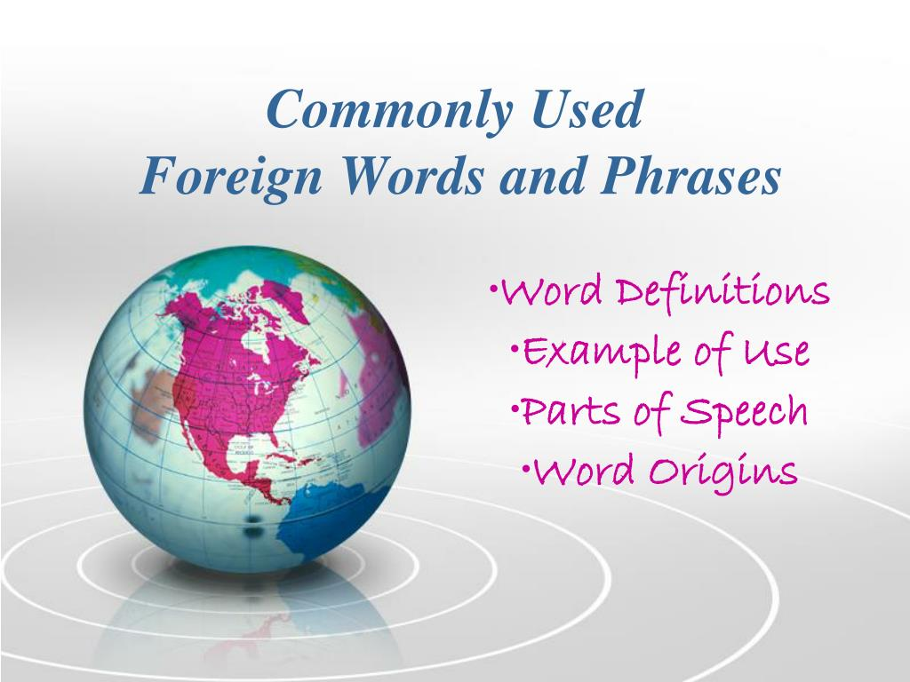 commonly used foreign words and phrases l.