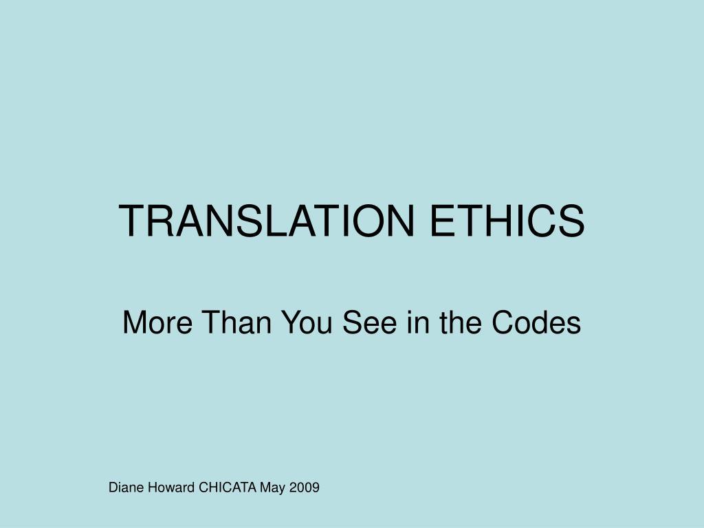 translation ethics l.