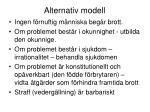alternativ modell