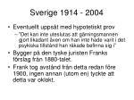 sverige 1914 2004