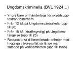 ungdomskriminella bvl 1924