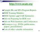 http www ncate org