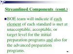 streamlined components cont14