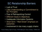 sc relationship barriers
