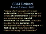 scm defined fawcett magnan 2001