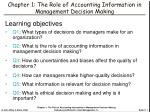 chapter 1 the role of accounting information in management decision making