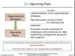 q1 operating plans