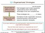 q1 organizational strategies