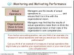 q2 monitoring and motivating performance