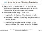 q4 steps for better thinking envisioning