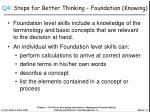 q4 steps for better thinking foundation knowing