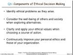 q6 components of ethical decision making