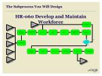 the subprocess you will design