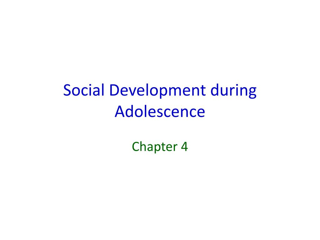 social development during adolescence l.